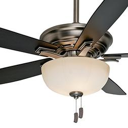 "Casablanca 54"" Traditional Ceiling Fan in Antique Pewter wit"