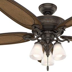 Hunter Fan 54 inch Traditional Ceiling Fan includes LED Ligh
