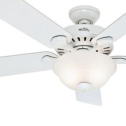 "Hunter Fan 52"" Traditional Ceiling Fan in Snow White with Sw"