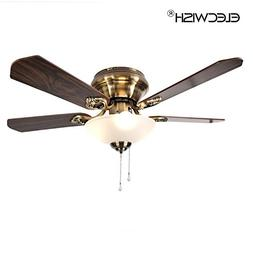 Elecwish 42-inch Traditional Indoor Ceiling Fan with 5 Blade
