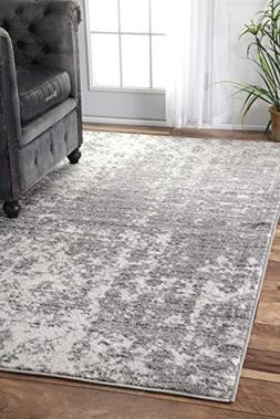 nuLOOM Transitional Mist Shades Area Rugs, 4' x 6', Grey