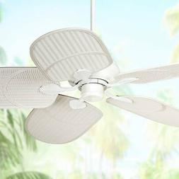 "52"" Casa Vieja Tropical White Outdoor Ceiling Fan"