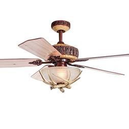 Tropicalfan Rustic Ceiling Fan With 1 Light Cover Indoor Hom