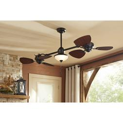 Harbor Breeze Twin 74-in Oil Rubbed Bronze In/Outdoor Downro