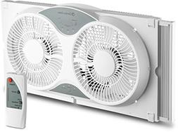 BOVADO USA Twin Window Cooling Fan with Remote Control - Ele