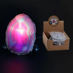 Adeeing USB Agate Lamp Mini 7 Colors LED Night <font><b>Ligh