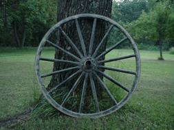 USED Amish Country Collectible Authentic Wagon Wheel Off an
