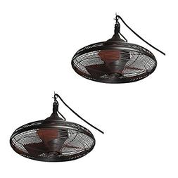 Set Of 2 Allen Roth Valdosta 20 In Oil Rubbed Bronze Outdo