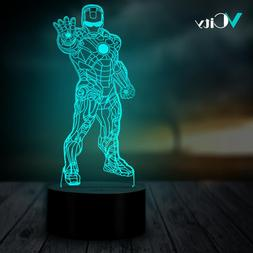 VCity Iron Man Avenger 3D Night Light Gifts for Movie Fans <