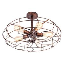 OYI Vintage Industrial Retro Ceiling Chandelier Light, 5 Lig