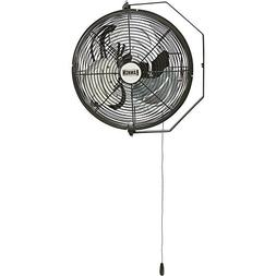 Bannon Wall-Mount Enclosed-Motor Workstation Fan - 12in., 25