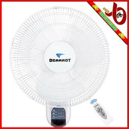 Tornado 16 Inch Digital Wall Mount Fan - Remote Control Incl