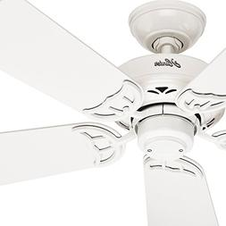 "Hunter Fan 42"" White Finish Ceiling Fan with 5 Reversible Li"