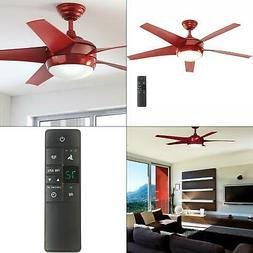 Windward IV 52 In. LED Indoor Red Ceiling Fan With Light Kit