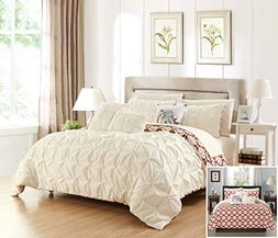 Chic Home 8 Piece Yael Pleated Pintuck and Aztec inspired pr