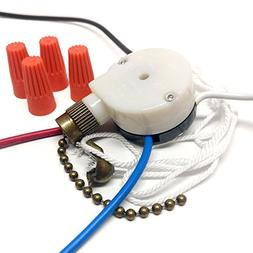 CeilingFanSwitch Zing Ear ZE-208s 3 Speed 4 Wire Rotary Cont